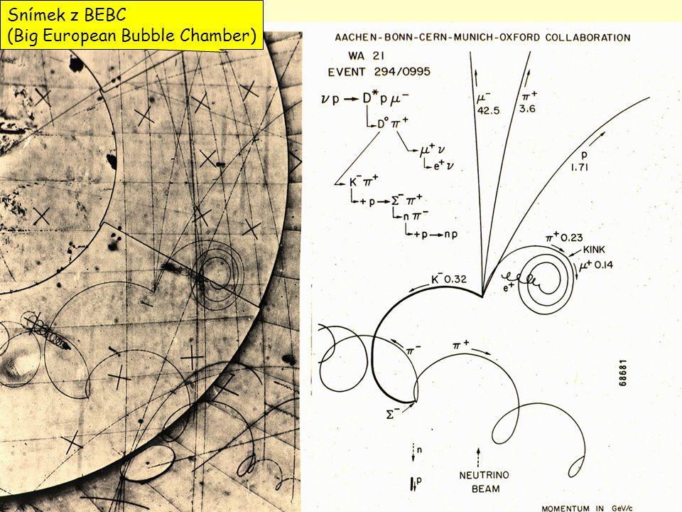 5 Snímek z BEBC (Big European Bubble Chamber)
