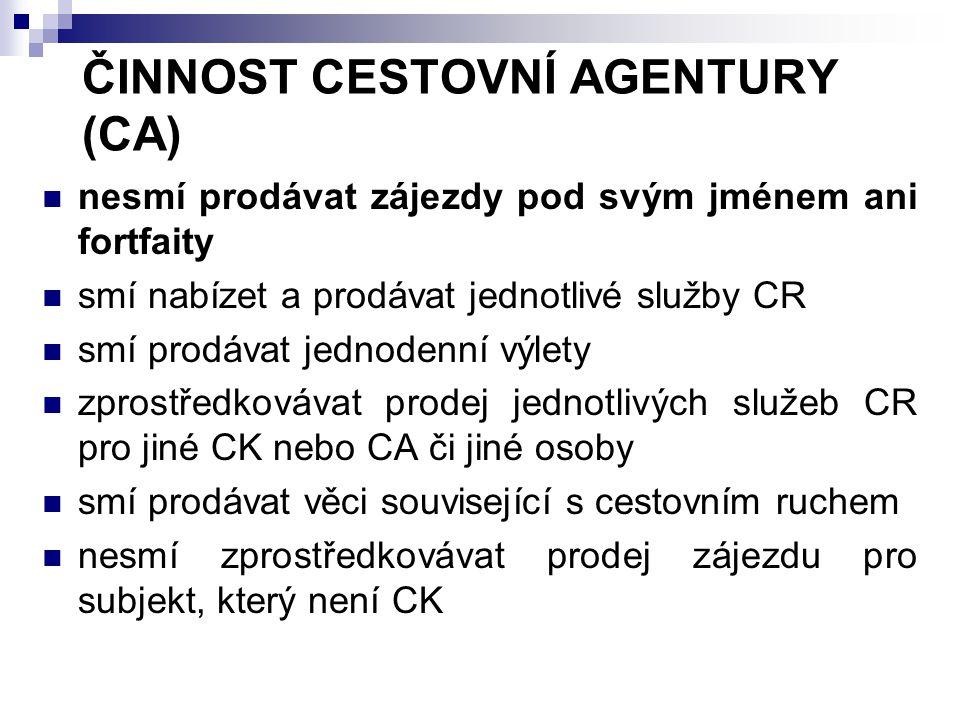 POVINNÉ SMLUVNÍ POJIŠTĚNÍ Uzavírá pouze CK Doklady určené zákazníkovi (www.mmr.cz)  Označení pojišťovny  Podmínky pojištění  Způsob ohlášení pojistné události Pojistná částka sjednána na min 30% plánovaných ročních tržeb z prodeje zájezdů Pojistná sazba 0,9 – 6 % z plán.