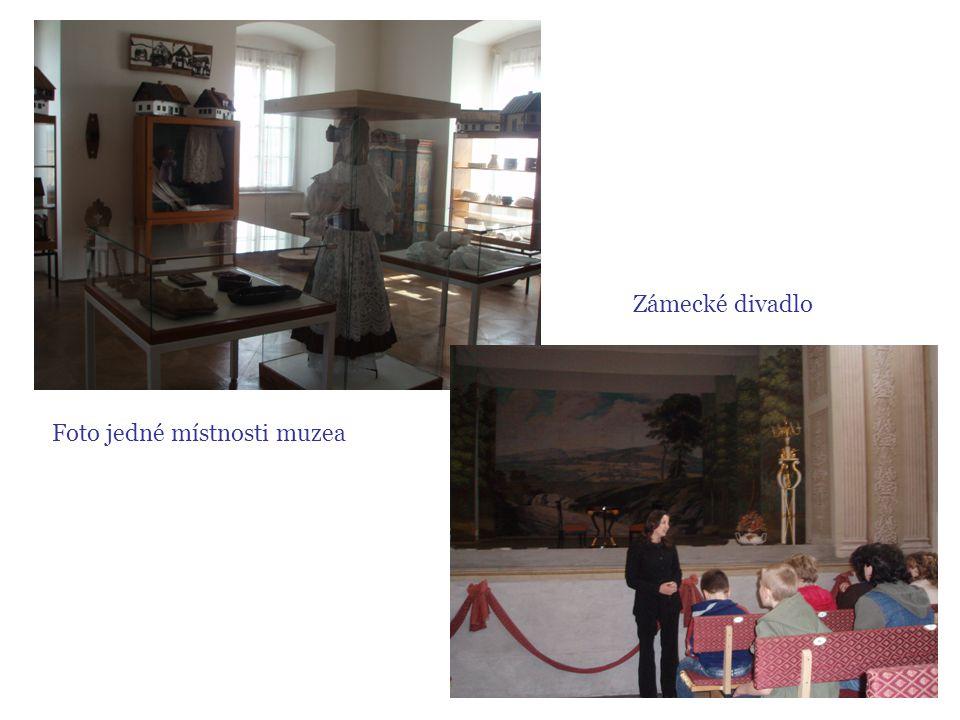 Foto jedné místnosti muzea Zámecké divadlo