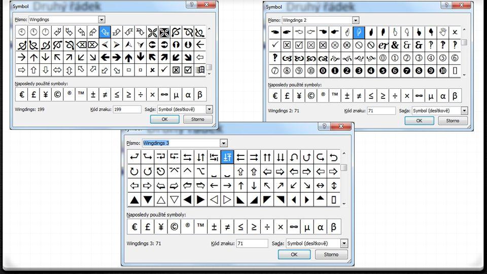 Word 2010 – skupina Odstavec 0 Zmáčkneme-li tlačítko Obrázek.