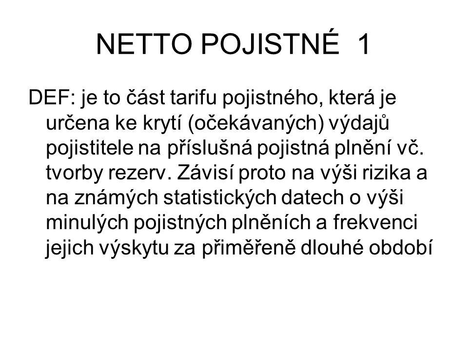NETTO POJISTNÉ 2