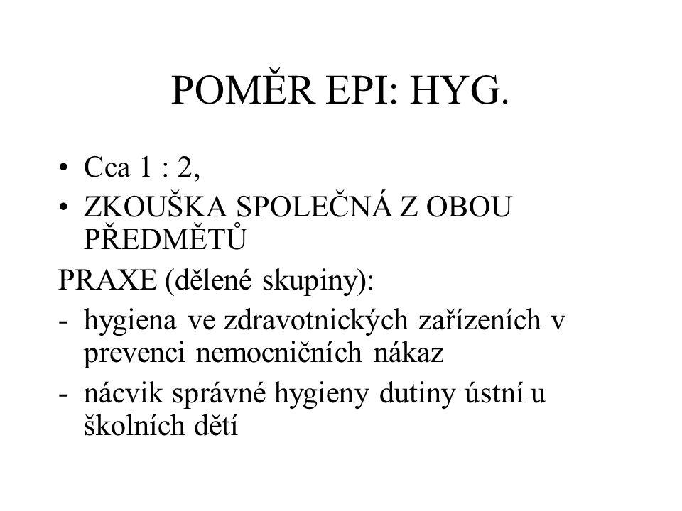 POMĚR EPI: HYG.