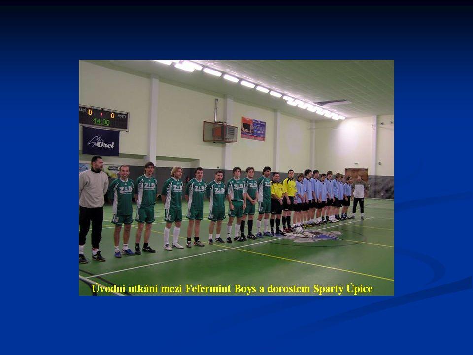 Konečné pořadí finálové části turnaje: 1. Fefermint boys Trutnov 21 : 2 15 bodů 2. ZŠ Komenského Trutnov 11 : 12 9 bodů 3. Apríl Bar Úpice 10 : 12 7 b