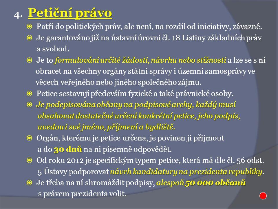 Petiční právo 4.