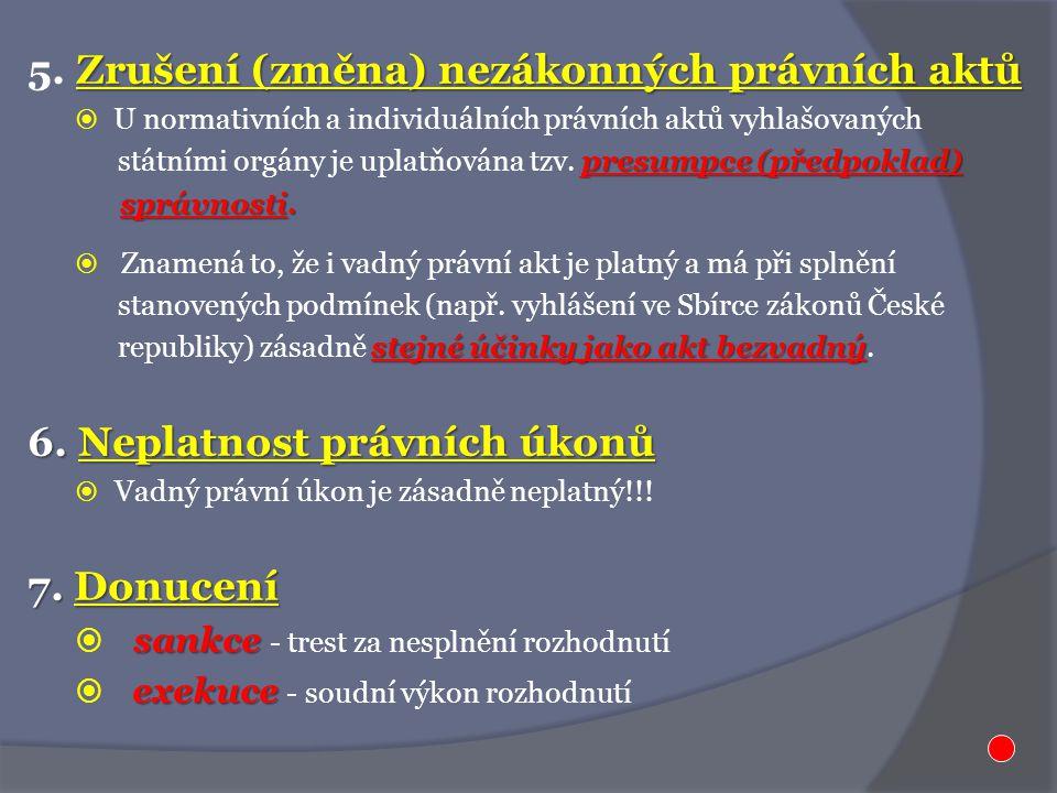 Zrušení (změna) nezákonných právních aktů 5.