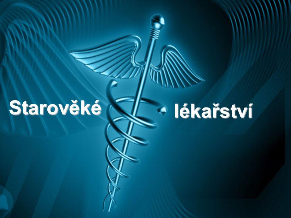 Řecko V nejstarším období byla medicína silně pod vlivem náboženství a od toho se odvíjely léčebné metody Řecké lékařství se odlišovalo od ostatních škol této doby silným vlivem filozofie Významný posun v této oblasti provedl Hippokratés, který oddělil medicínu od filozofie (příroda je nejlepší lékař)