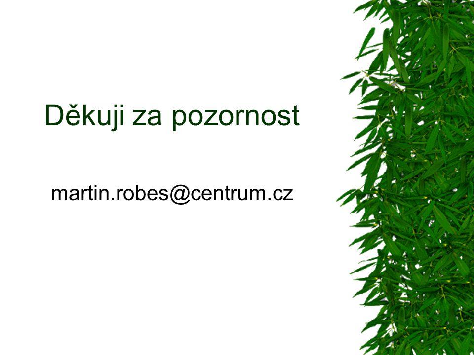 Děkuji za pozornost martin.robes@centrum.cz