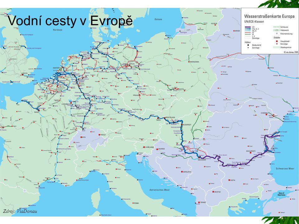 Zdroj: ViaDonau Vodní cesty v Evropě