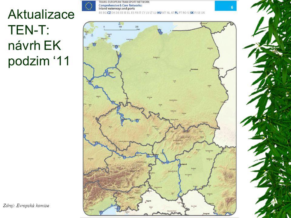 Aktualizace TEN-T: návrh EK podzim '11 Zdroj: Evropská komise