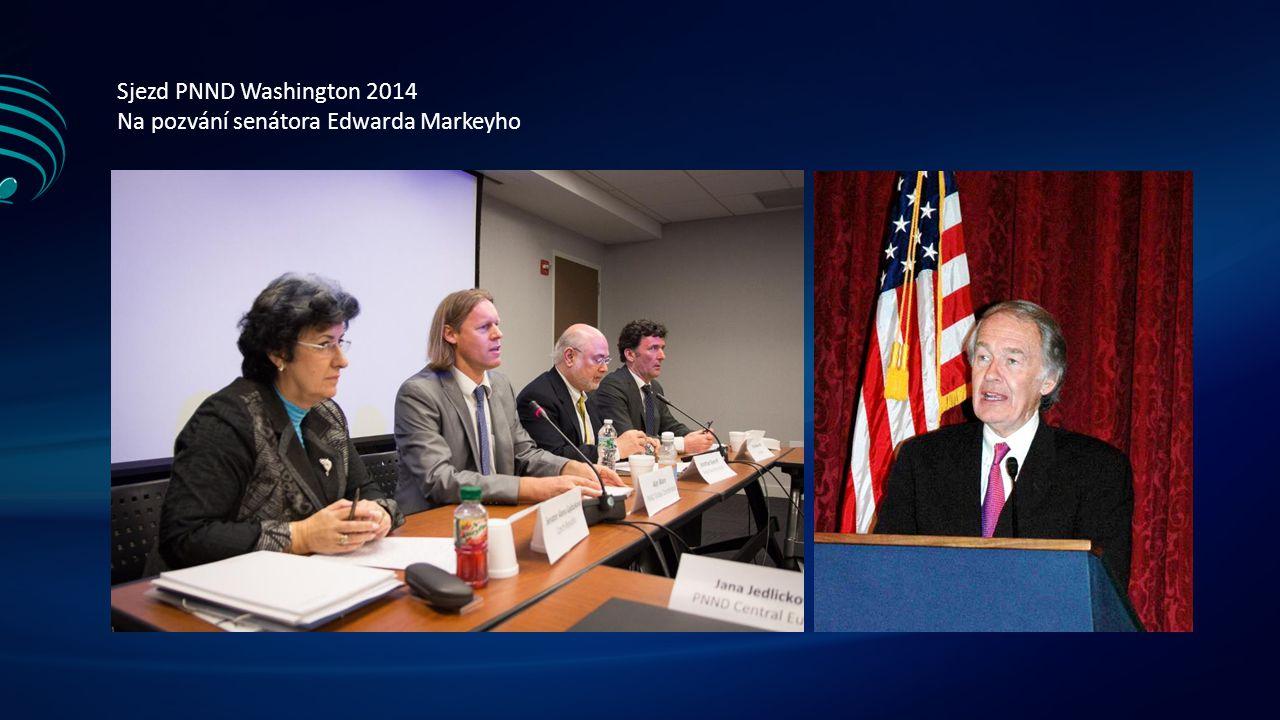Sjezd PNND Washington 2014 Na pozvání senátora Edwarda Markeyho