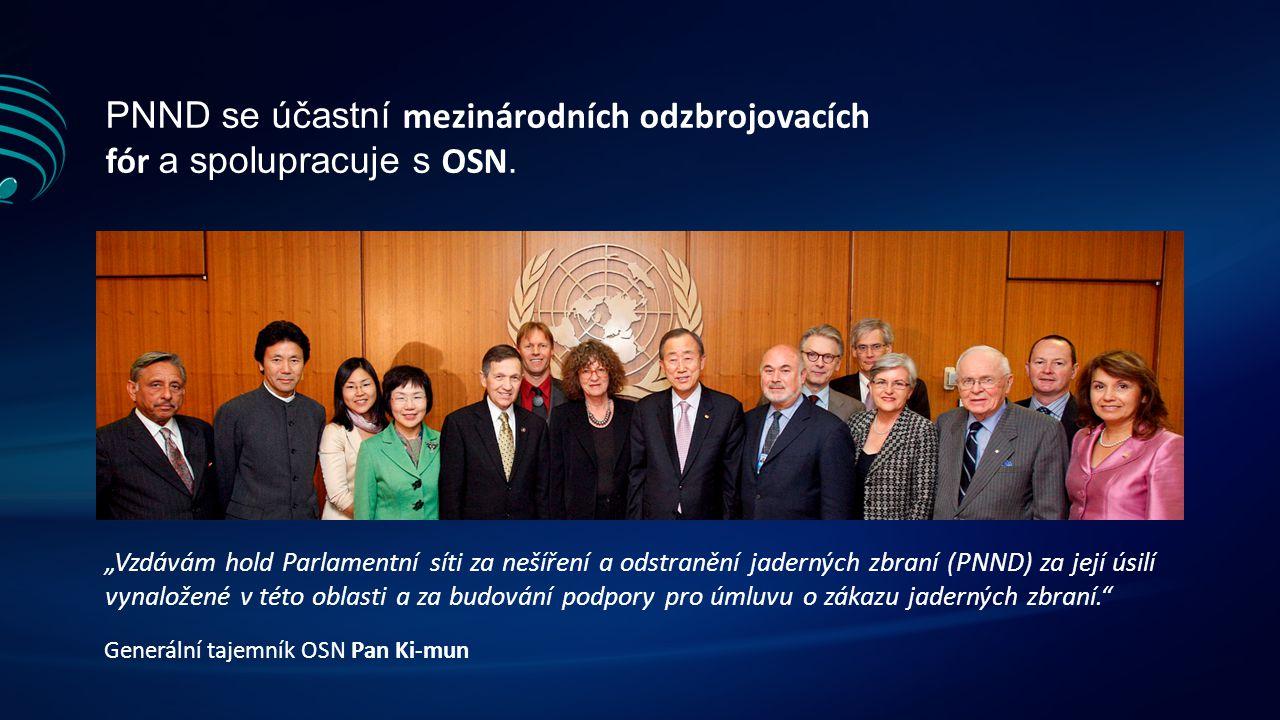 PNND se účastní mezinárodních odzbrojovacích fór a spolupracuje s OSN.