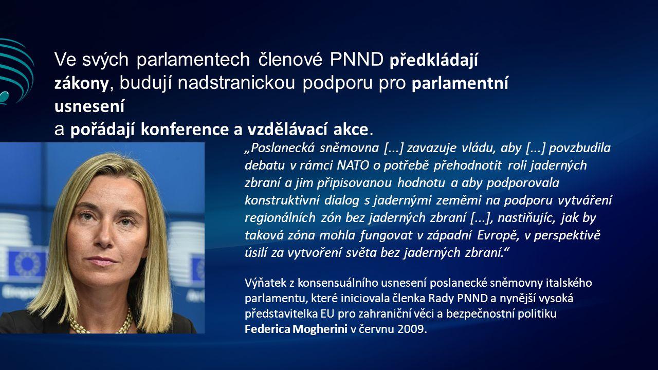 Ve svých parlamentech členové PNND předkládají zákony, budují nadstranickou podporu pro parlamentní usnesení a pořádají konference a vzdělávací akce.
