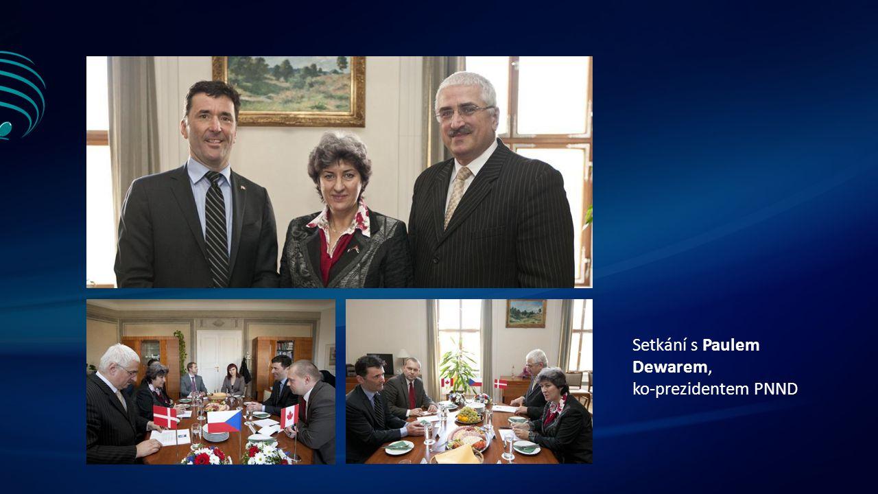 Setkání s Paulem Dewarem, ko-prezidentem PNND