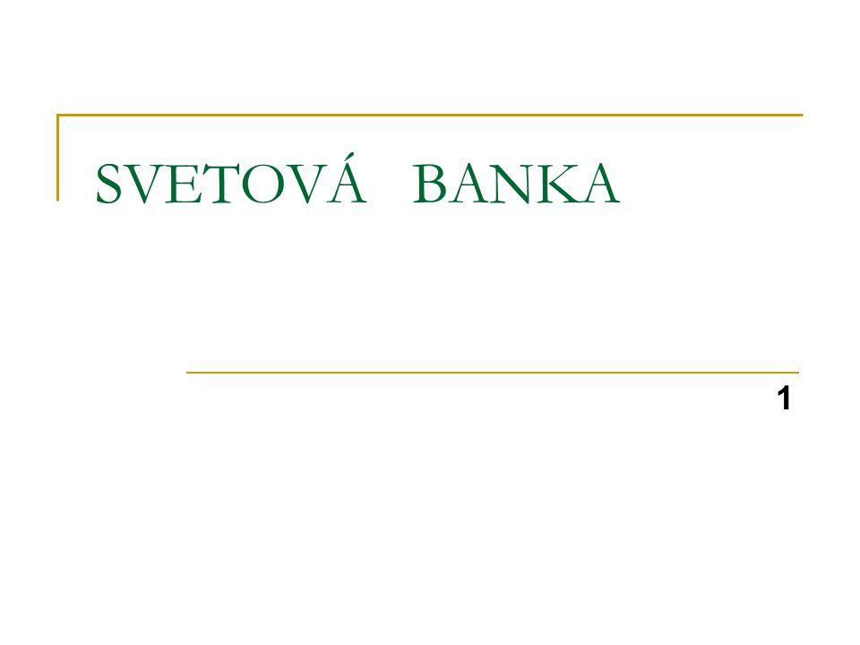 SVETOVÁ BANKA 1