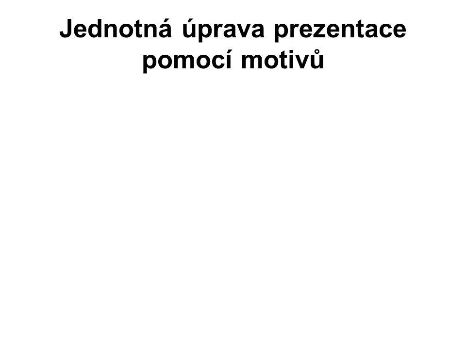 Jednotná úprava prezentace pomocí motivů