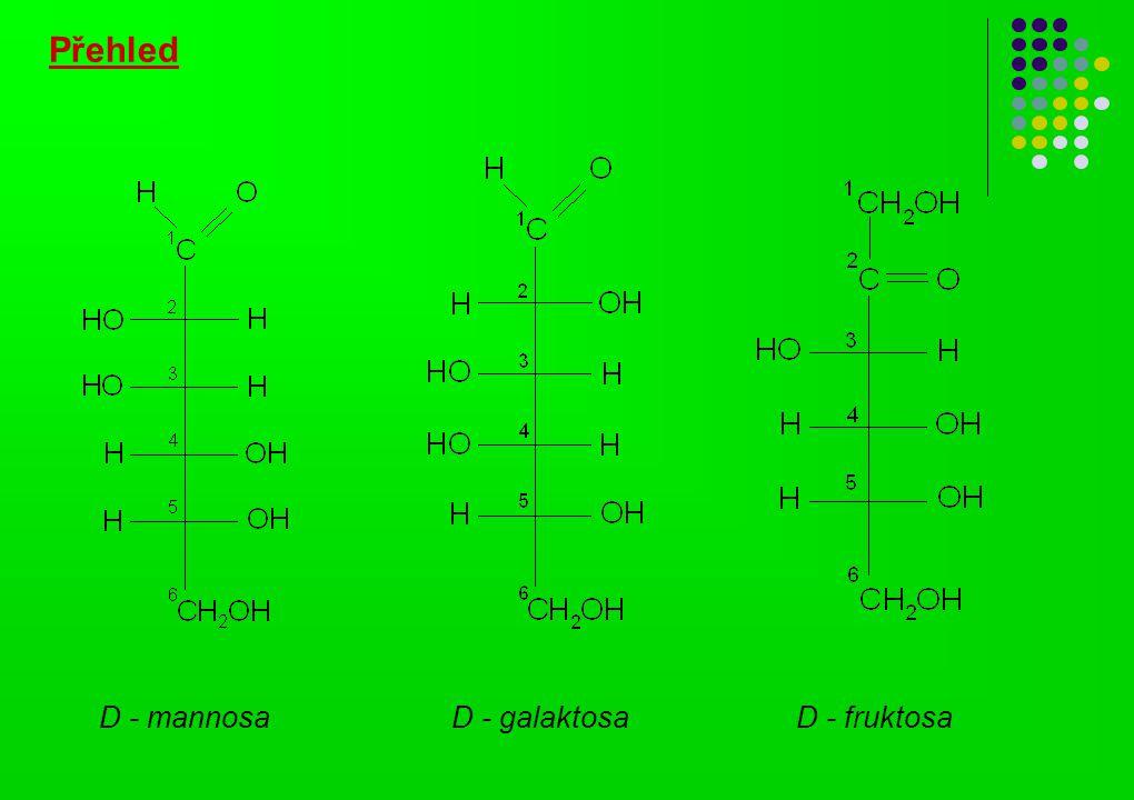Přehled D - fruktosaD - galaktosaD - mannosa