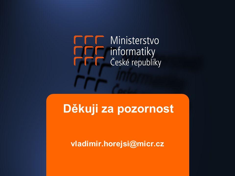 Děkuji za pozornost vladimir.horejsi@micr.cz