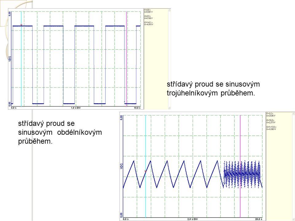 střídavý proud se sinusovým obdélníkovým průběhem. střídavý proud se sinusovým trojúhelníkovým průběhem.