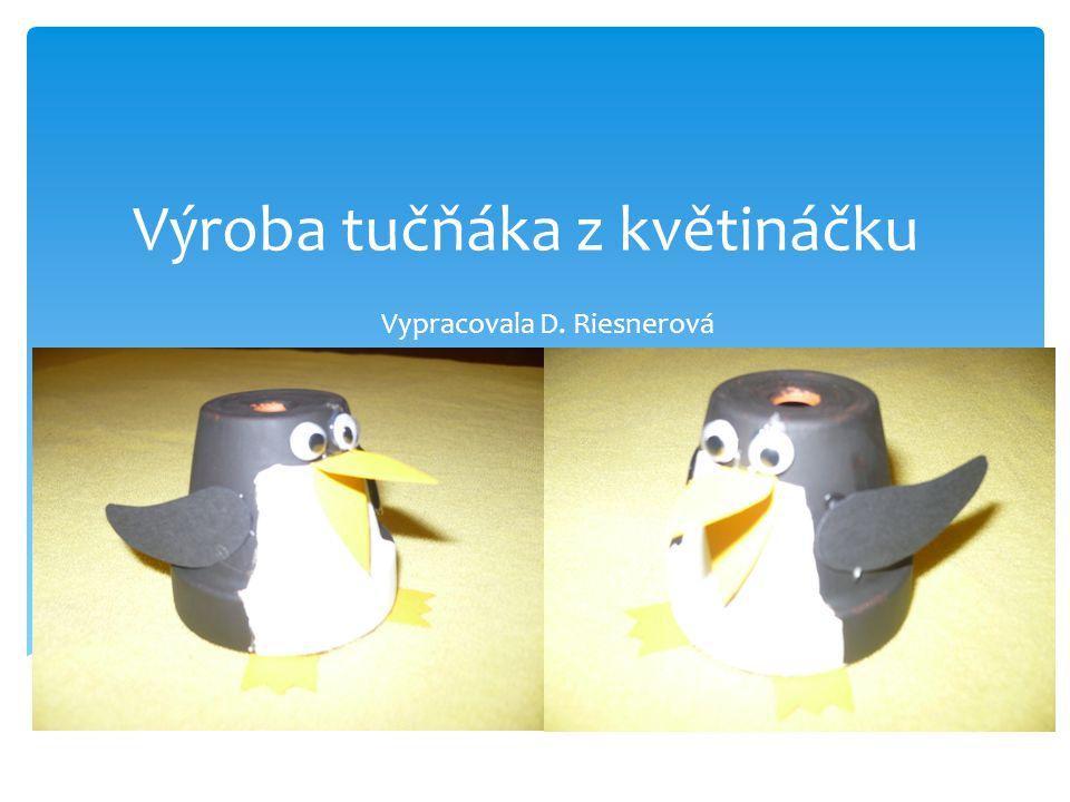 Výroba tučňáka z květináčku Vypracovala D. Riesnerová