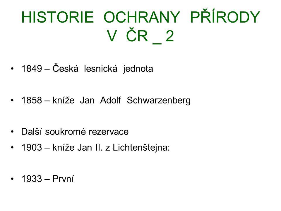 HISTORIE OCHRANY PŘÍRODY V ČR _ 3 Po r.1945 – 1956 – 70.