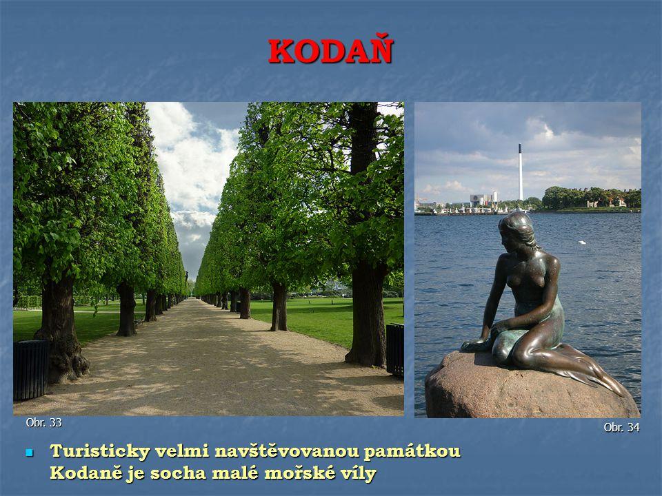Turisticky velmi navštěvovanou památkou Kodaně je socha malé mořské víly Turisticky velmi navštěvovanou památkou Kodaně je socha malé mořské víly KODA
