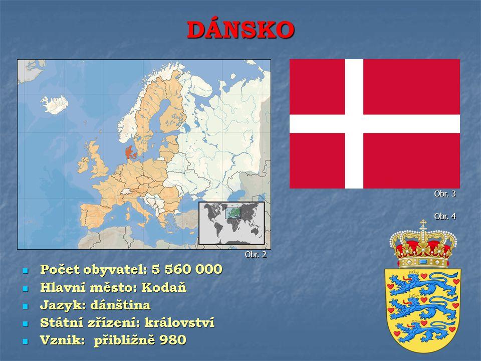Dánsko tvoří stovky ostrovů Dánsko tvoří stovky ostrovů Z největších je to Fyn a Sjaelland Z největších je to Fyn a Sjaelland Největší plochu zaujímá Jutský poloostrov Největší plochu zaujímá Jutský poloostrov Dánsku patří i jeden z největších ostrovů světa: Grónsko Dánsku patří i jeden z největších ostrovů světa: Grónsko POVRCH Obr.