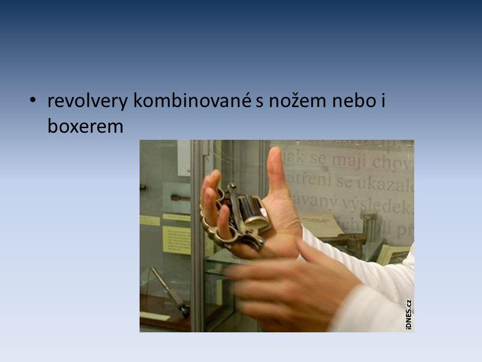revolvery kombinované s nožem nebo i boxerem