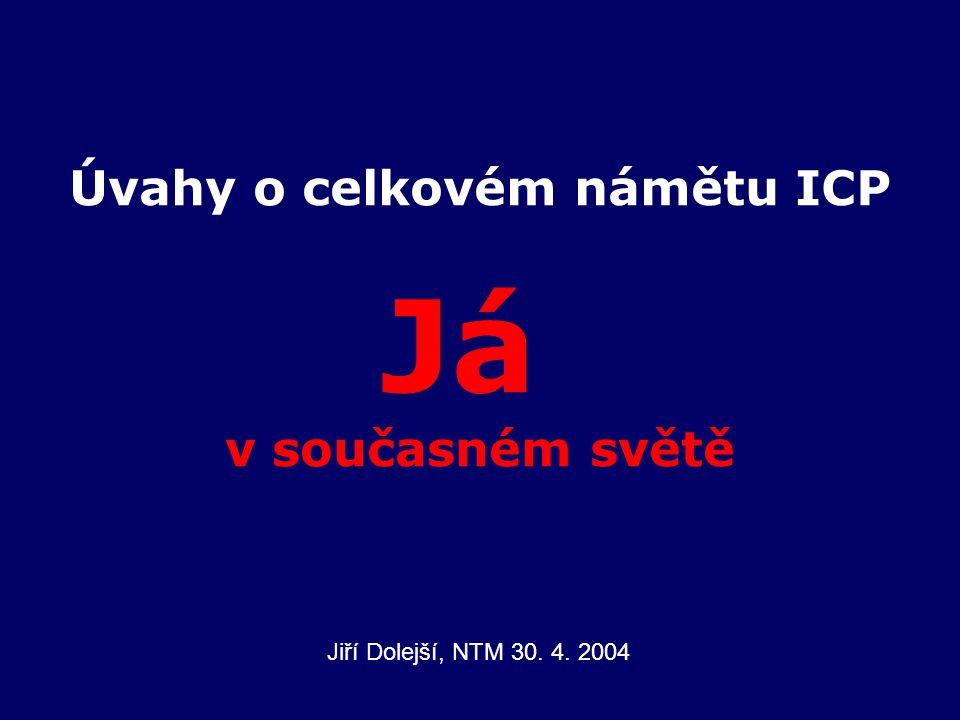 Úvahy o celkovém námětu ICP Já v současném světě Jiří Dolejší, NTM 30. 4. 2004