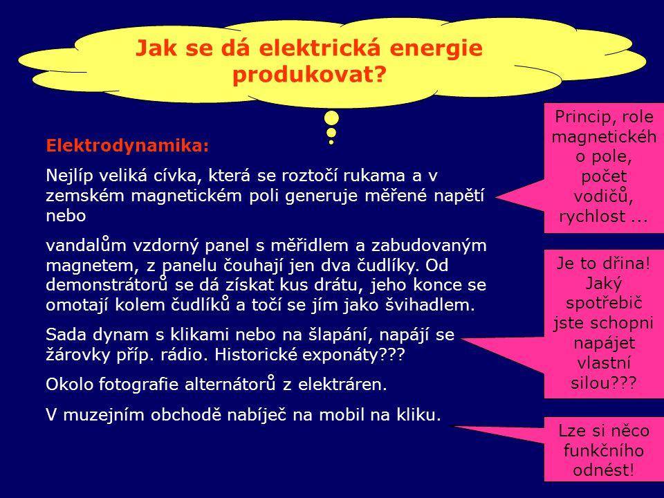 Jak se dá elektrická energie produkovat.