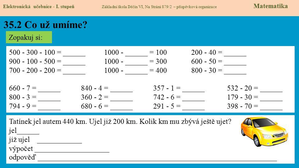35.3 Co si řekneme nového Elektronická učebnice - I.
