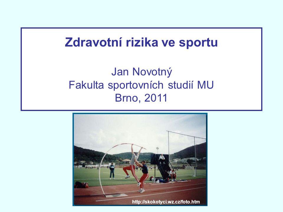 Zdravotní rizika ve sportu Jan Novotný Fakulta sportovních studií MU Brno, 2011 http://skokotyci.wz.cz/foto.htm