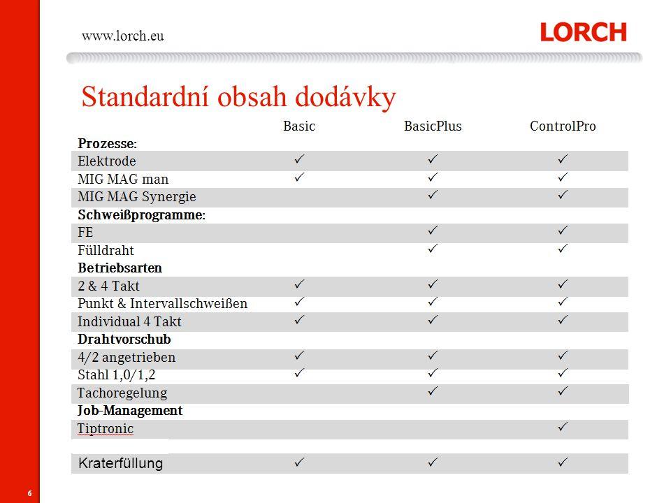 6 www.lorch.eu Standardní obsah dodávky Kraterfüllung