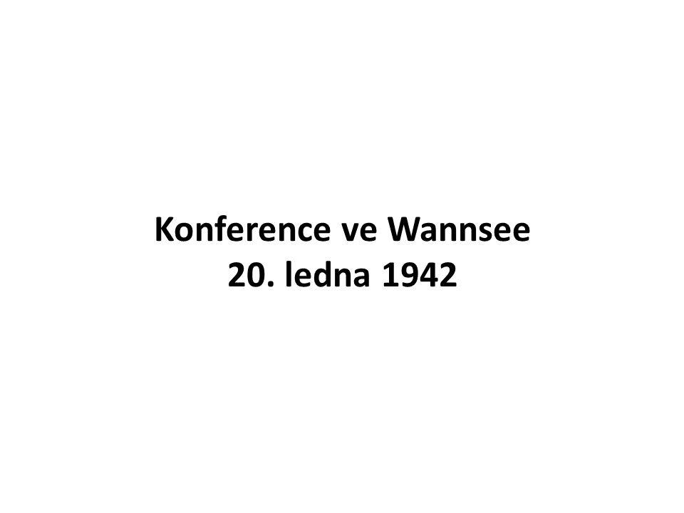Konference ve Wannsee 20. ledna 1942