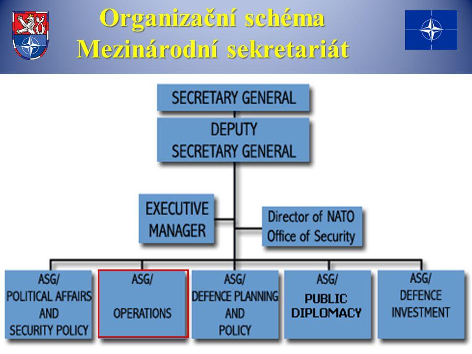 Organizační schéma Mezinárodní sekretariát