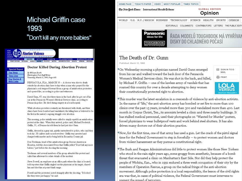 Michael Griffin case 1993 Don t kill any more babies