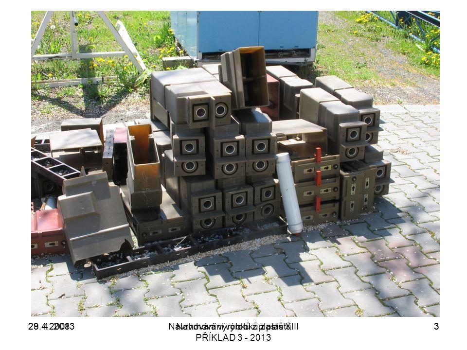 28.4.2008Navrhování výrobků z plastů XIII329. 4. 20133Navrhování výrobků z plastů PŘÍKLAD 3 - 2013
