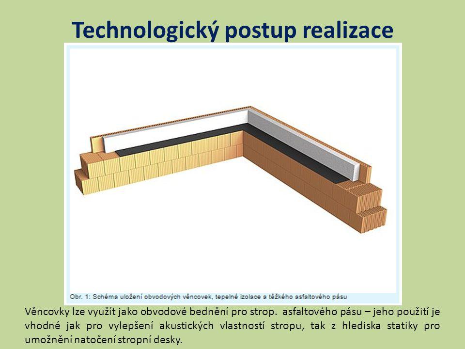 Technologický postup realizace Věncovky lze využít jako obvodové bednění pro strop.