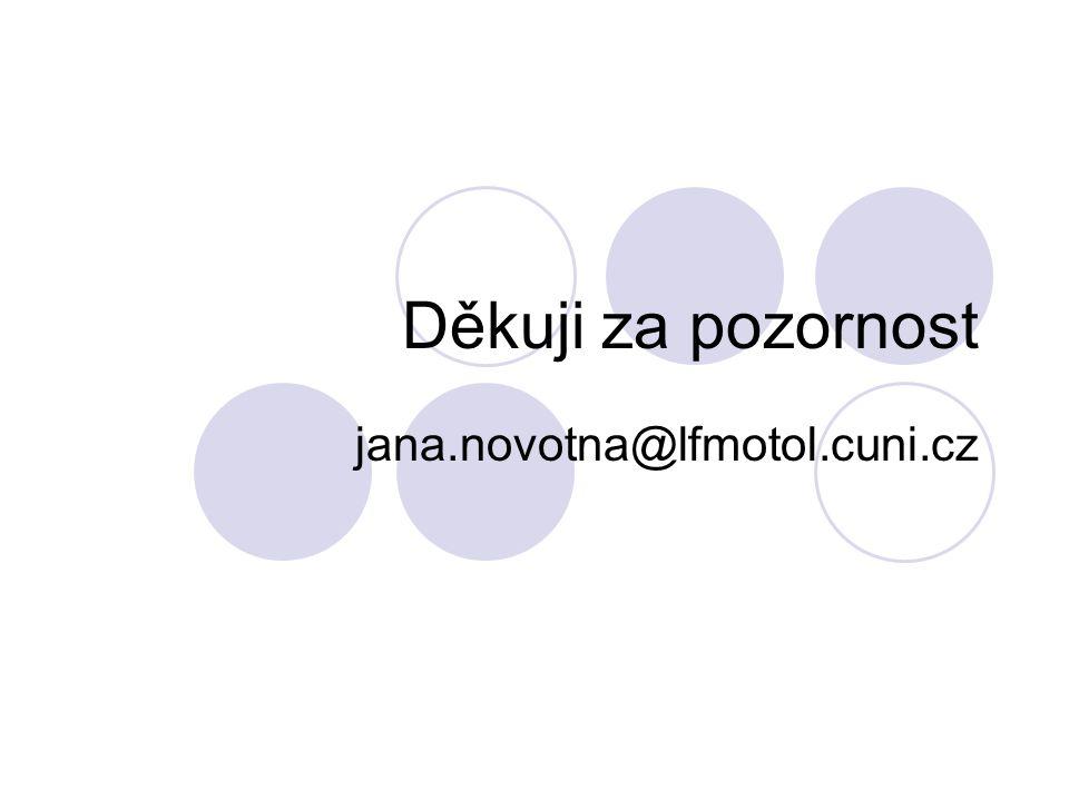 Děkuji za pozornost jana.novotna@lfmotol.cuni.cz