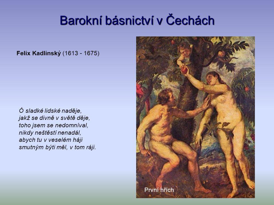 Barokní básnictví ve střední Evropě Spi, děťátko, spi.
