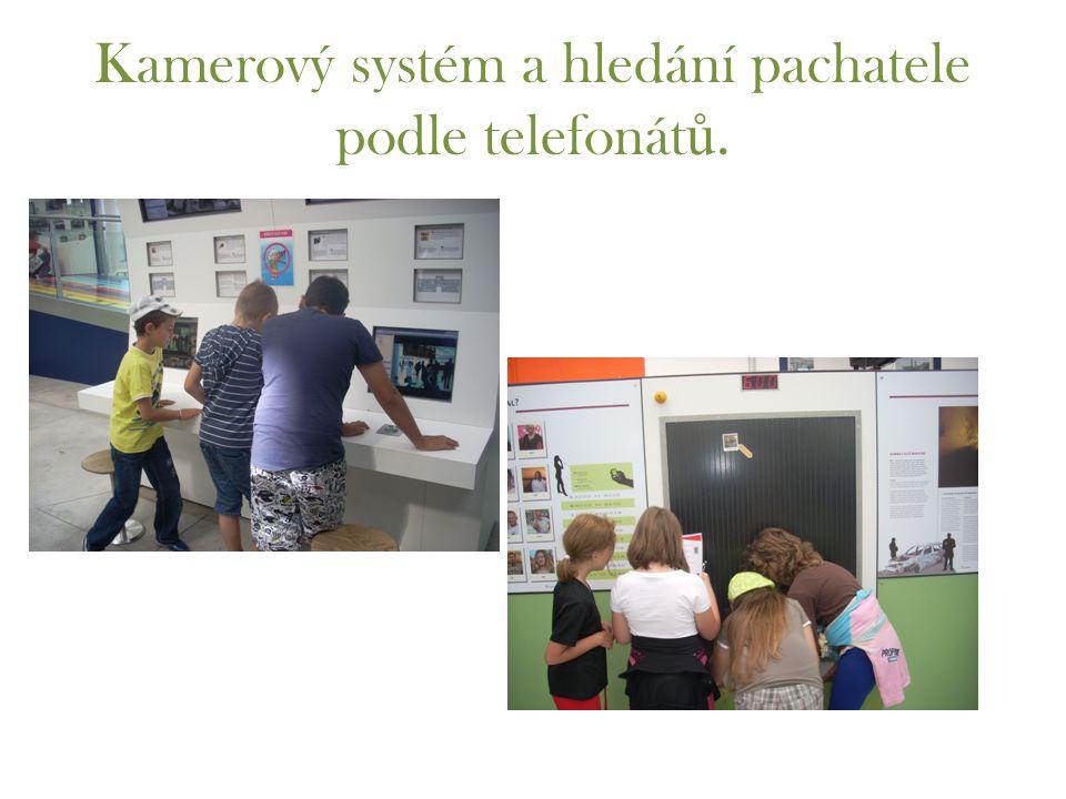 Kamerový systém a hledání pachatele podle telefonát ů.