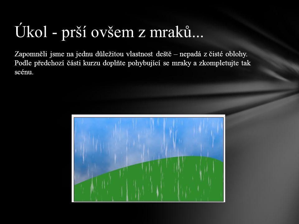 Zapomněli jsme na jednu důležitou vlastnost deště – nepadá z čisté oblohy.