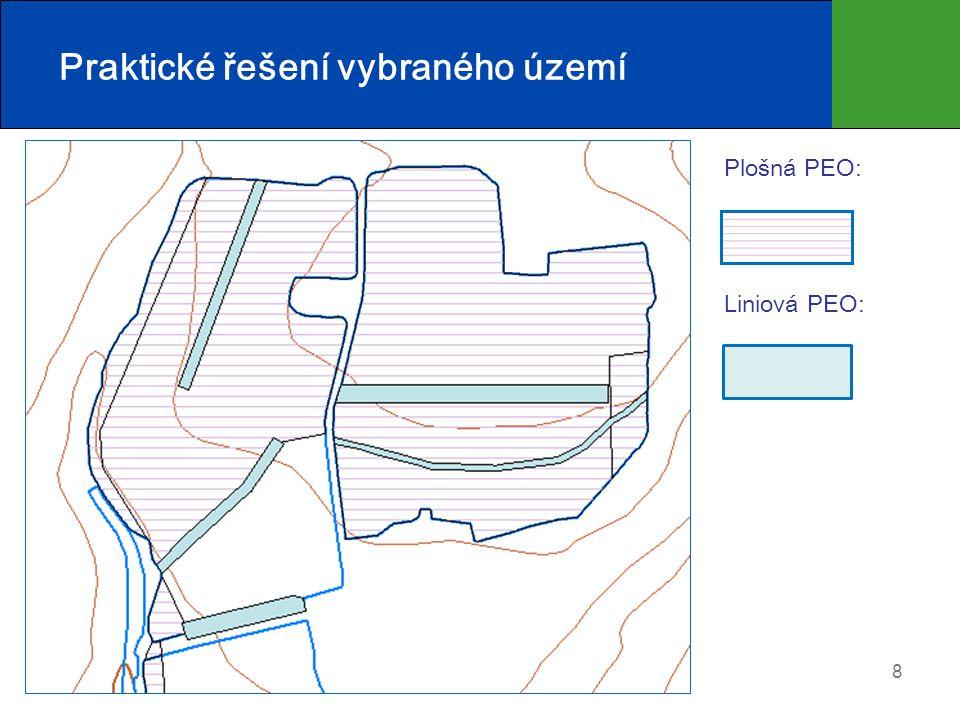8 Praktické řešení vybraného území Plošná PEO: Liniová PEO: