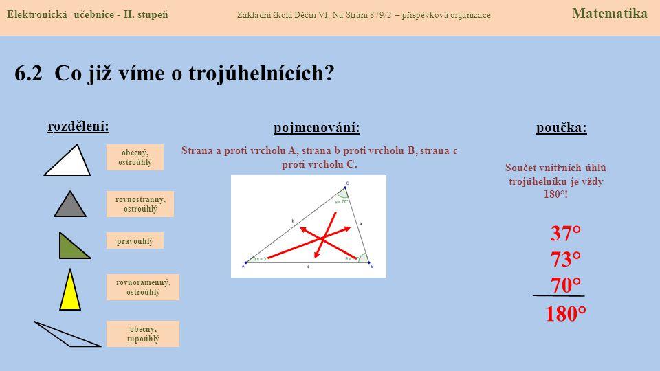 6.1 Výšky v trojúhelníku (rozdělení, názvosloví) Elektronická učebnice - II.