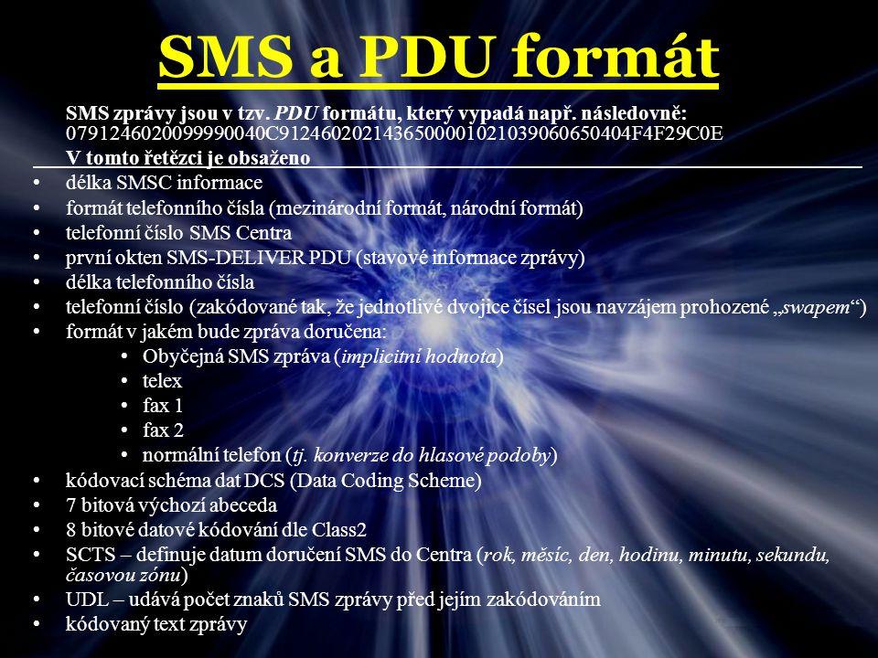 Program Inicializace programu – Nastavuje se zde přenosová rychlost pro komunikaci procesoru s mobilním telefonem, která je 19200 Bd.