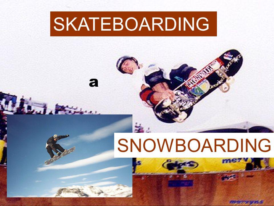 SKATEBOARDING a SNOWBOARDING