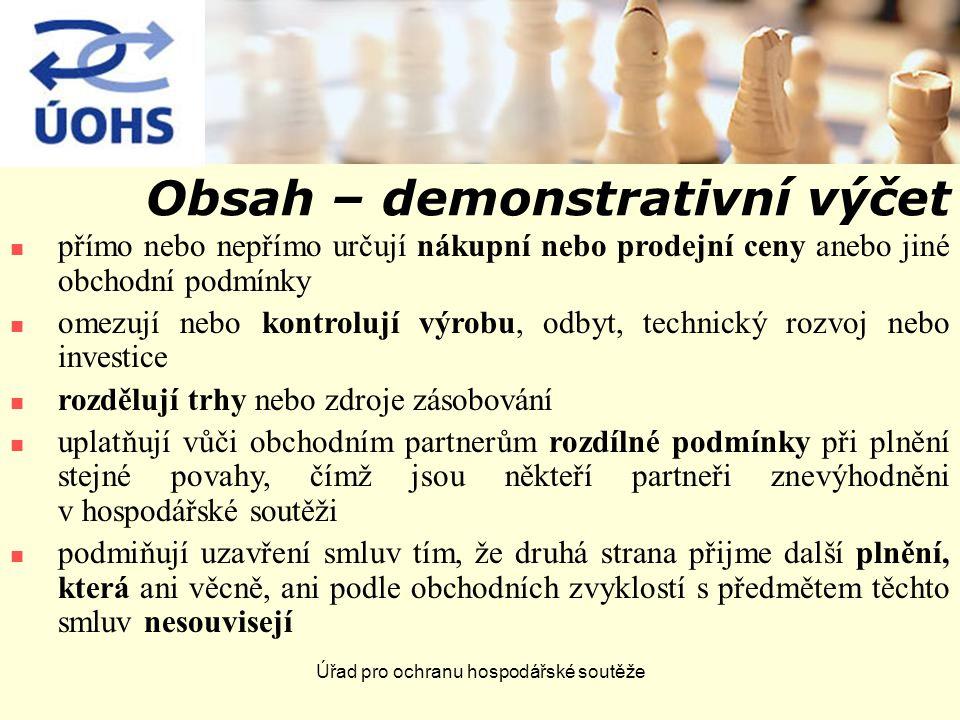 Úřad pro ochranu hospodářské soutěže II.Dominantní postavení Právní úprava: čl.