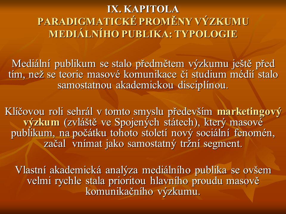 Mediální publikum se stalo předmětem výzkumu ještě před tím, než se teorie masové komunikace či studium médií stalo samostatnou akademickou disciplíno