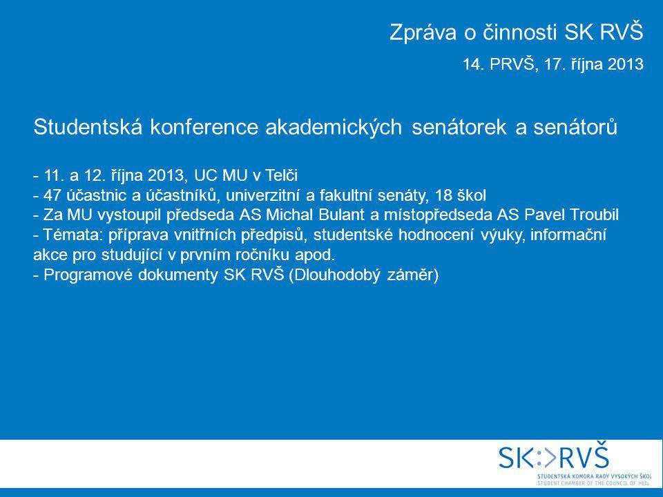 Studentská konference akademických senátorek a senátorů - 11.