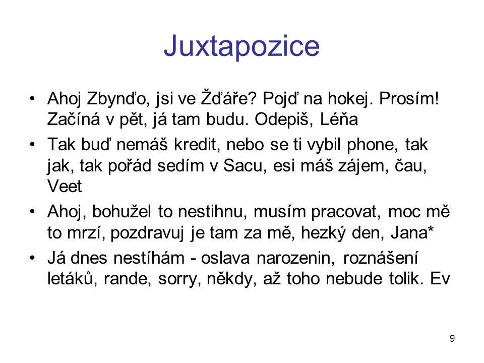 Juxtapozice Ahoj Zbynďo, jsi ve Žďáře. Pojď na hokej.