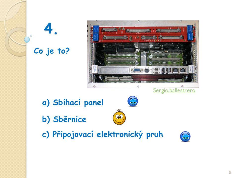 4. Co je to 8 b) Sběrnice a) Sbíhací panel c) Připojovací elektronický pruh Sergio.ballestrero